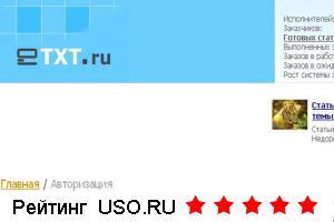 Биржа статей Etxt.ru, отзывы