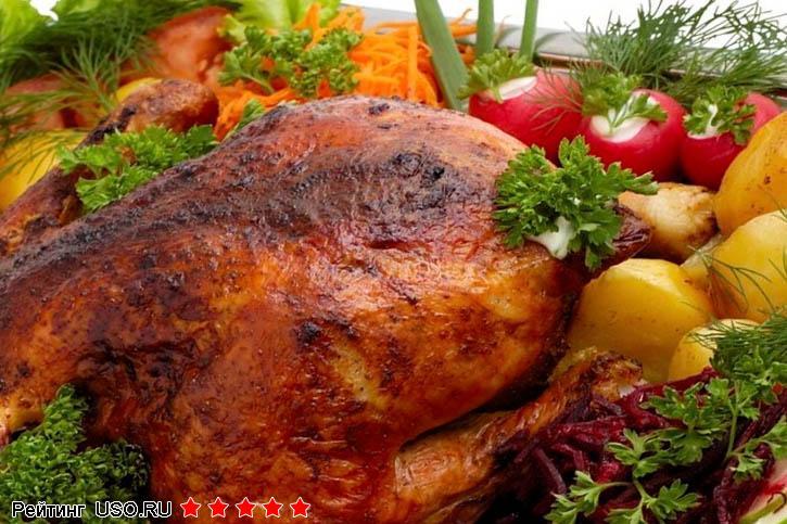 Курица в духовке с корочкой рецепт фото